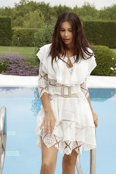 """Zarina"" guipure lace dress"