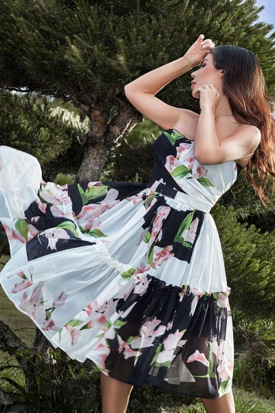 """SUMMERS"" floral chiffon dress"