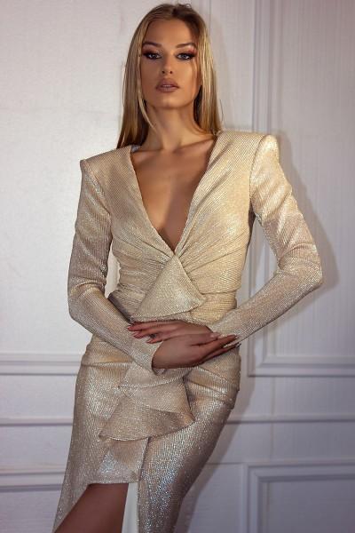 """Salute Gold"" dress"
