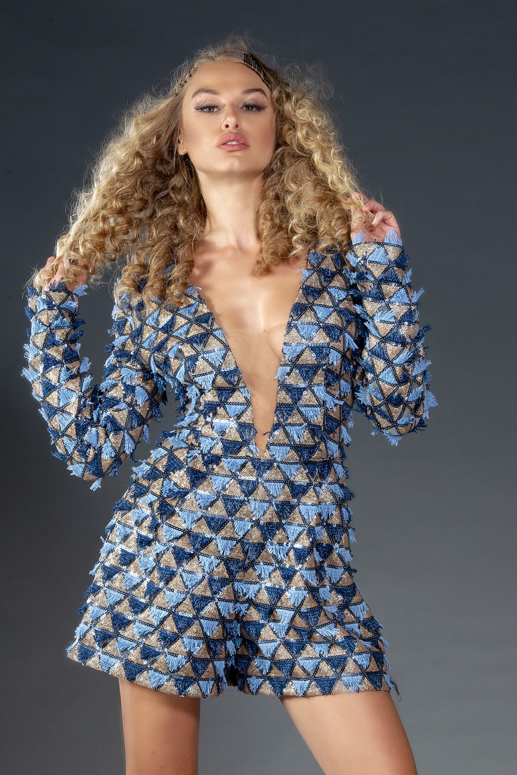 """Laurent"" sequins jumpsuit"
