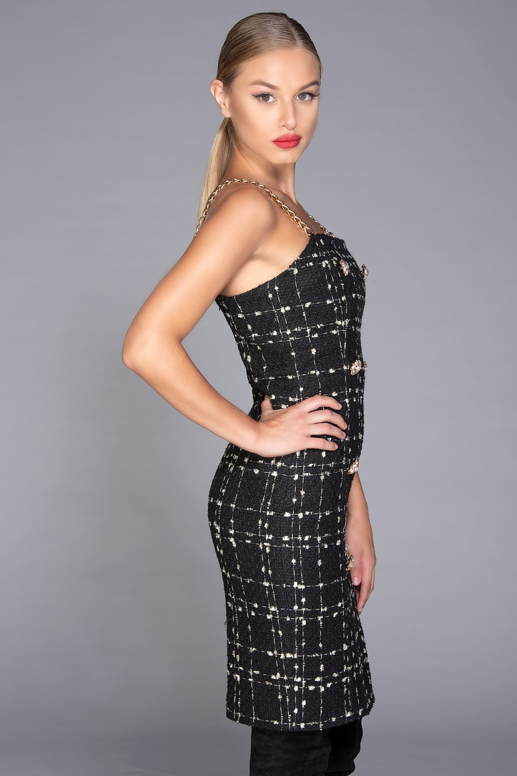 """Bond"" tweed dress"