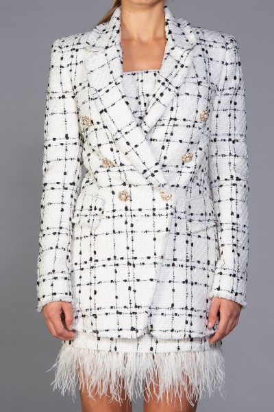 """Ingrid"" boucle double breasted blazer"