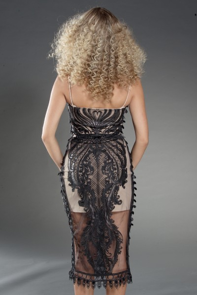 """Alix"" cocktail black lace dress"