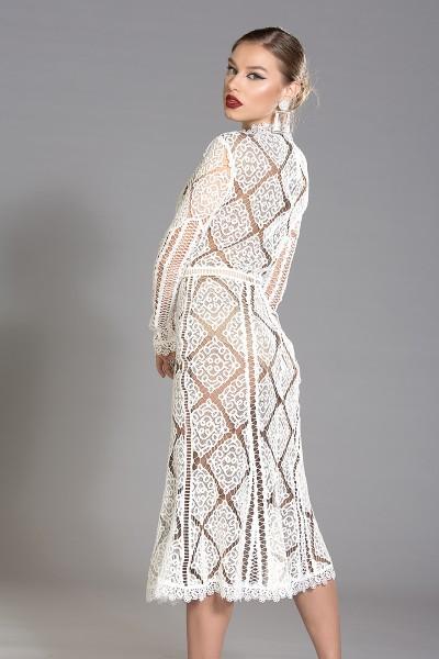 Aniusha guipure lace midi dress