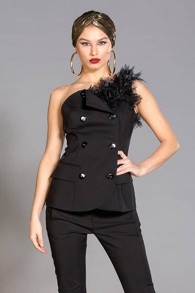 """Victoria"" one shoulder vest"