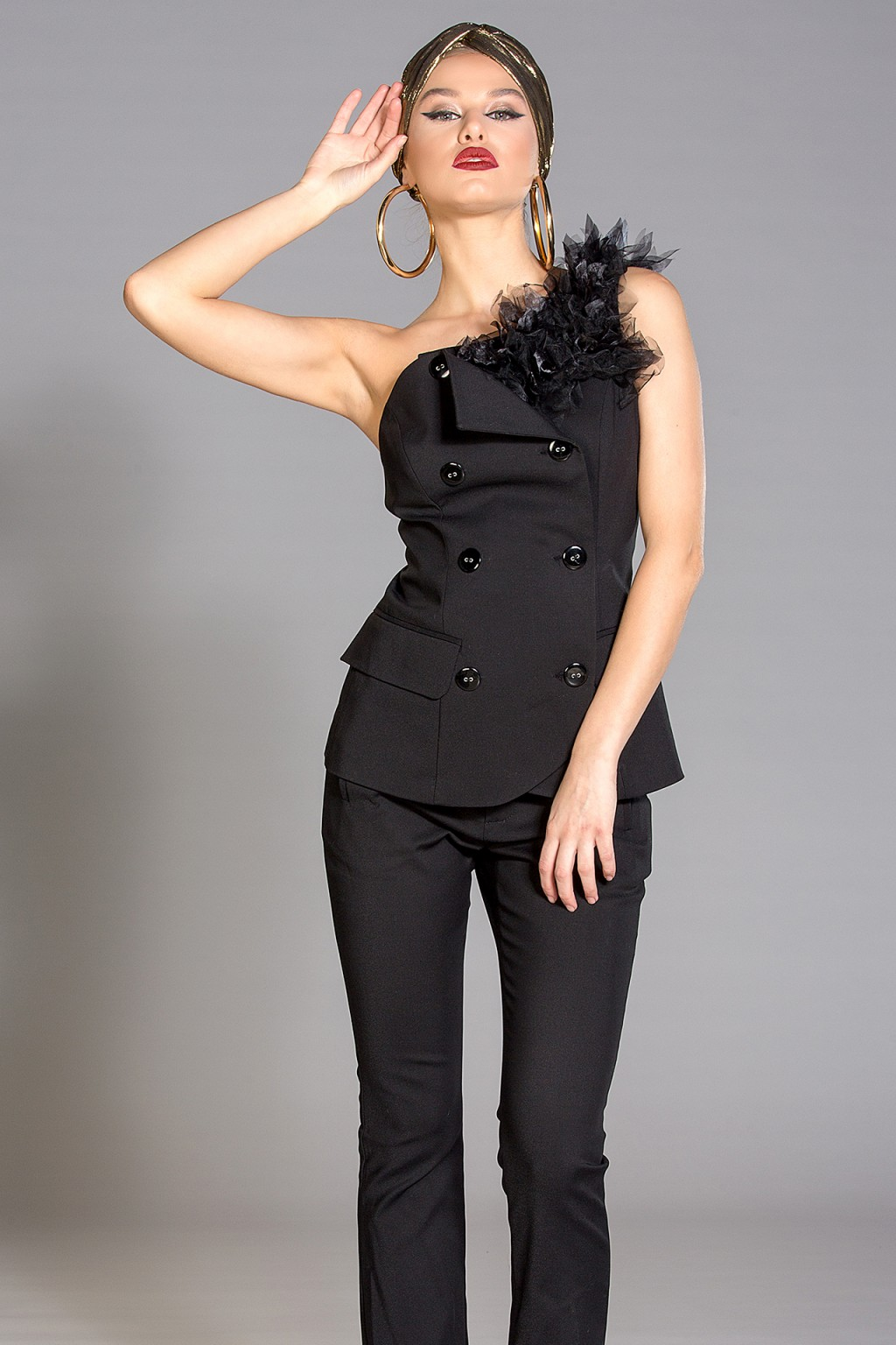 """Victoria"" one shoulder vest"