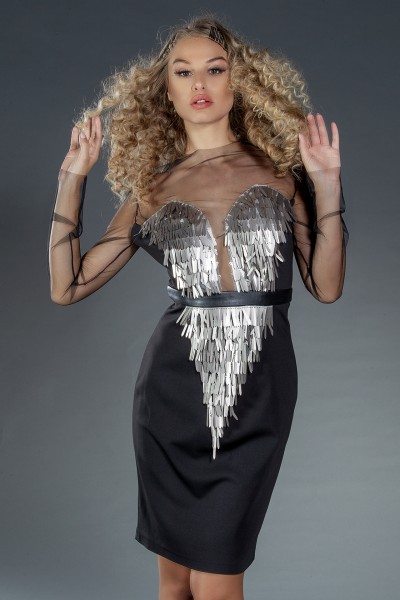 """Redem"" cocktail dress with sequins"