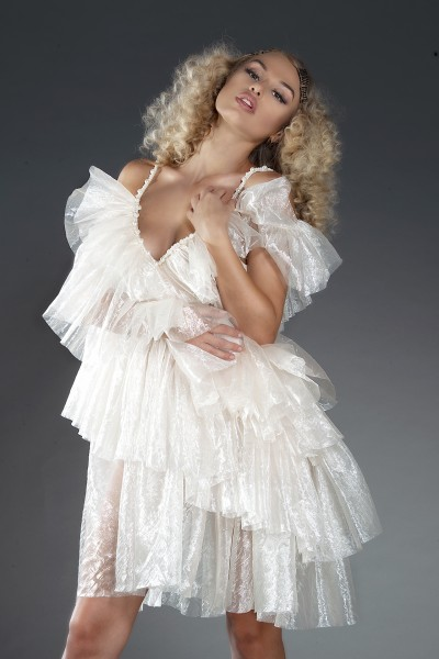 """Liia Couture"" organza ruffled dress"