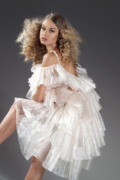"""Liia Couture"" organza ruffled dress"