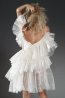 Liia Couture Dress organza ruffled dress
