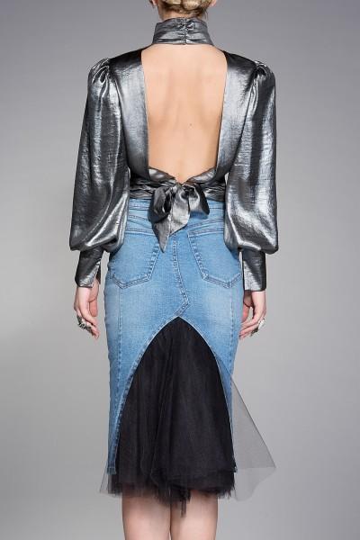 """Shape"" bodycon denim skirt"