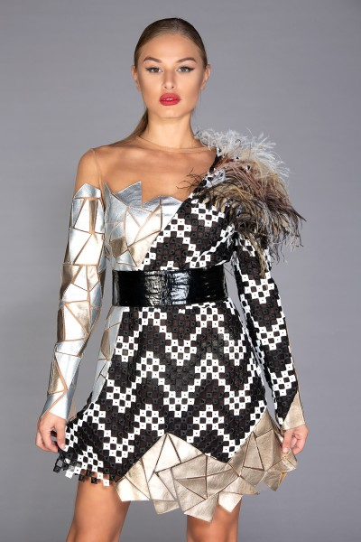 Mosaic Dress demi-couture dress