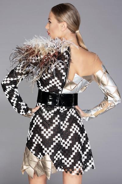 """Mosaic"" demi-couture dress"
