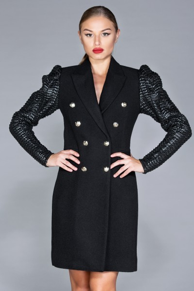 """Laurent"" puff sleeves coat"