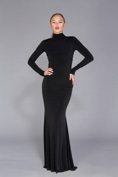 Sierra Dress black gown with embellishment