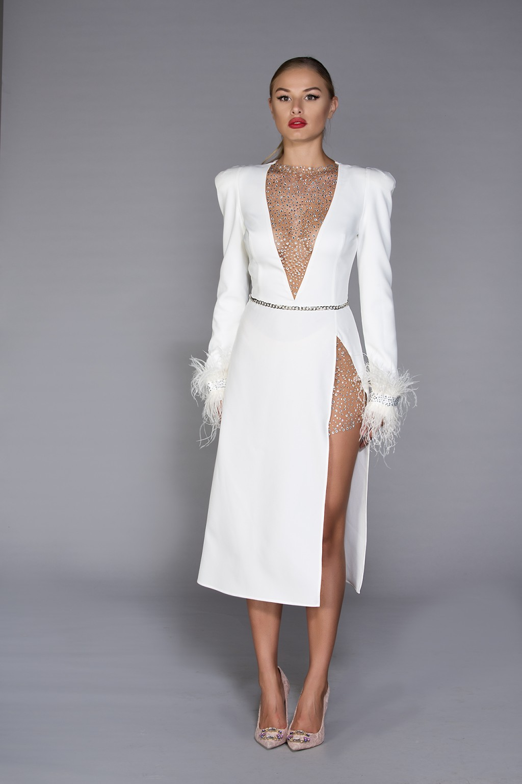 """Sensualite"" Dress white formal dress"